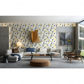 Luxurious Décor Modern Shapes Non Woven, Textile Wallpaper