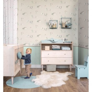 Uni Wallpaper, Rasch Bambino 18 - Studio360 BB247107