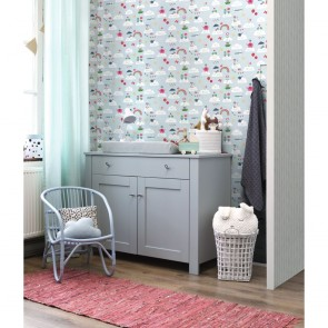 Stripes Wallpaper, Rasch Bambino 18 - Studio360 BB249132