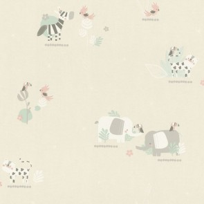 Animals Wallpaper, Rasch Bambino 18 - Studio360 BB249736