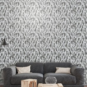 Geometric Shapes Metal Wallpaper, Galerie Grunge - Studio360 G45334
