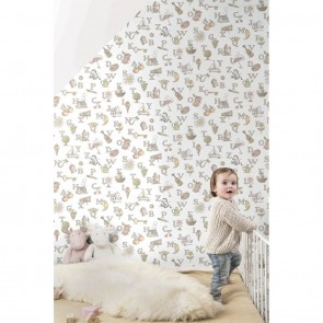 Letters Wallpaper, Grandeco Jack 'n Rose - Studio360 LL3106