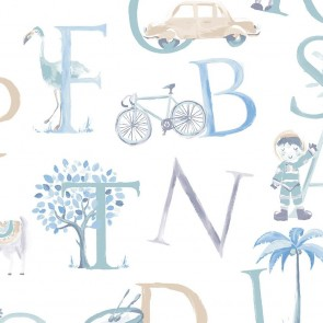 Kids Letters Wallpaper, Grandeco Little Ones - Studio360 LO2301
