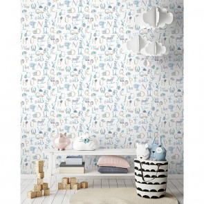 Kids Letters Wallpaper, Grandeco Little Ones - Studio360 LO2302