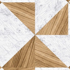 Geometric Shapes Wood Marble Wallpaper, All Around Deco Texture - Studio360 TX1-2502